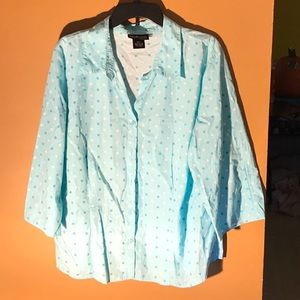 Style and Co polkadots woman's top 20w like new
